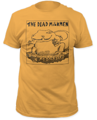 Dead Milkmen Big Lizard Ginger Cotton Short Sleeve Adult T-shirt