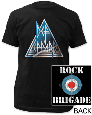 Def Leppard Rock Brigade Black Cotton Short Sleeve Adult T-shirt