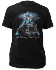 Def Leppard On Through the Night Black Cotton Short Sleeve Adult T-shirt
