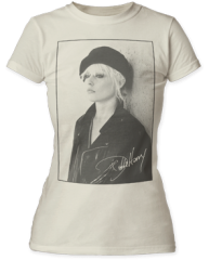 Debbie Harry Beret White Short Sleeve Junior T-shirt