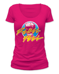 Billy Idol Rebel Yell Fist Raspberry Short Sleeve Women's T-shirt