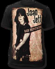 Joan Jett Bad Reputation Black Sublimation Print Short Sleeve Adult T-shirt