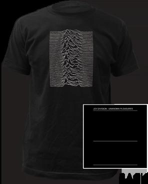Joy Division Unknown Pleasures Black Short Sleeve Adult T-shirt