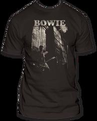 David Bowie Guitar Black 100% Cotton Short Sleeve Adult T-shirt