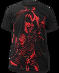 KISS Gene Simmons Black Sublimation Print Short Sleeve Adult T-shirt