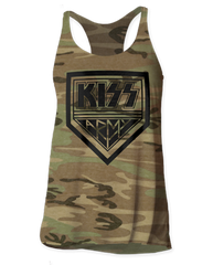 KISS KISS Army Camo Women's Tank Top T-shirt