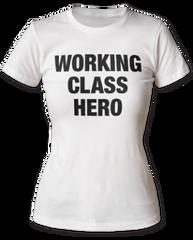John Lennon Working Class Hero White Short Sleeve Women's T-shirt
