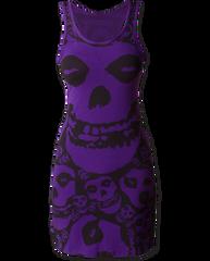The Misfits Purple Dress Purple Spandex Dress
