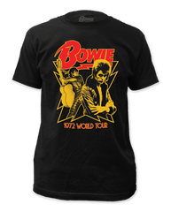 David Bowie 1972 Tour Black Short Sleeve Adult T-shirt