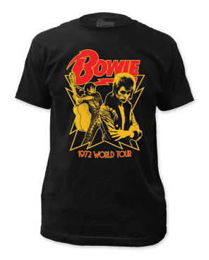 David Bowie 1972 Tour Black Short Sleeve Adult T-shirt