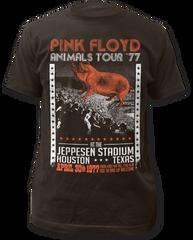 Pink Floyd Animals Tour '77 Coal Short Sleeve Adult T-shirt