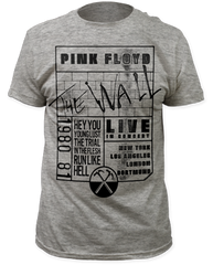 Pink Floyd The Wall 80-81 Tour Heater Grey Short Sleeve Adult T-shirt