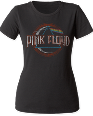 Pink Floyd The Dark Side of the Moon Seal Black Women's T-shirt