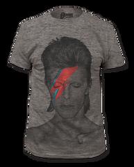 David Bowie Aladdin Sane Heather Grey Big Print Short Sleeve Adult T-shirt