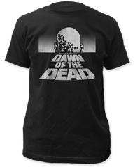 Dawn of the Dead Black and White Poster Black Short Sleeve Adult T-shirt
