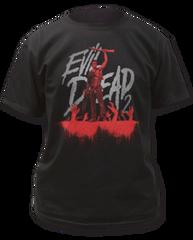 Evil Dead 2 Blue Ray Cover Black Short Sleeve Adult T-shirt