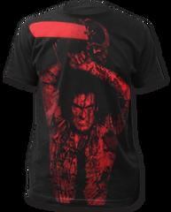 Evil Dead 2 Ash Williams Black Sublimation Print Short Sleeve Adult T-shirt