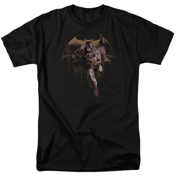 Justice League Caped Crusader Black Short Sleeve Adult T-shirt
