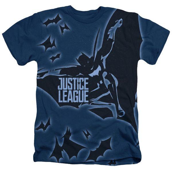 Justice League Batman Light Blue Short Sleeve Adult T-shirt