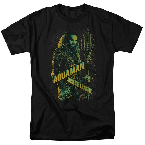 Justice League Aquaman Black Short Sleeve Adult T-shirt