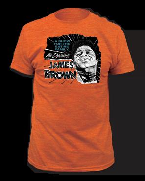 James Brown Mr. Dynamite Heather Orange Short Sleeve Adult T-shirt