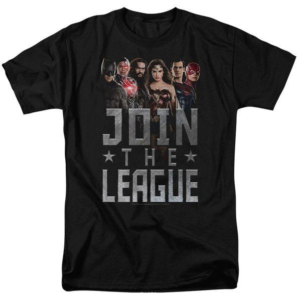 Justice League Join the League Black Short Sleeve Adult T-shirt