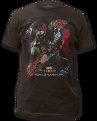 Thor Ragnarok Battle Black Short Sleeve Adult T-shirt