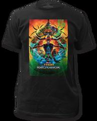 Thor Ragnarok Poster Black Short Sleeve Adult T-shirt