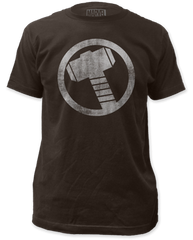 Thor Distressed Icon Coal Short Sleeve Adult T-shirt