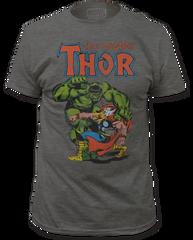 Thor Thor vs Hulk Heather Charcoal Short Sleeve Adult T-shirt