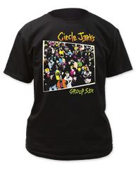 Circle Jerks Group Sex Black Cotton Short Sleeve Adult T-shirt