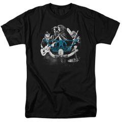 Aerosmith Rock and Round Black Short Sleeve Adult T-shirt