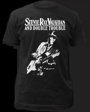 Stevie Ray Vaughan Live Alive Black Short Sleeve Adult T-shirt