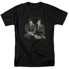 John Lennon Beret Black Short Sleeve Adult T-shirt