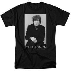 John Lennon Ex Beatle Black Short Sleeve Adult T-shirt