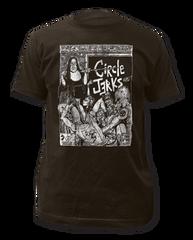 Circle Jerks Bad Religion Black Cotton Short Sleeve Adult T-shirt