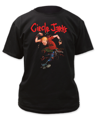 Circle Jerks Skank Man Black Cotton Short Sleeve Adult T-shirt