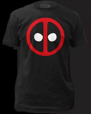 Deadpool Logo Black Short Sleeve Adult T-shirt