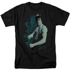 Bruce Lee Feel Black Short Sleeve Adult T-shirt