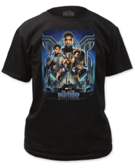 Black Panther Movie Poster Black Short Sleeve Adult T-shirt
