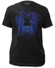 Black Panther Attack Logo Black Short Sleeve Adult T-shirt