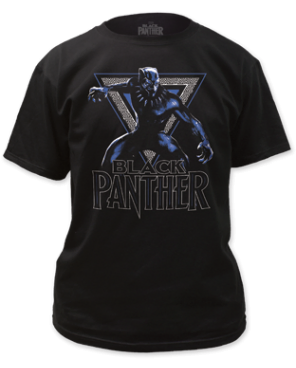 Black Panther Triangle Black Short Sleeve Adult T-shirt