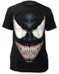 Venom Sinister Smile Black Short Sleeve Adult T-shirt