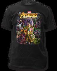 The Avengers Infinity Wars Infinity War Black Short Sleeve Adult T-shirt