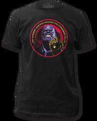 The Avengers Infinity Wars Thanos Black Short Sleeve Adult T-shirt