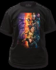 The Avengers Infinity Wars Poster Black Short Sleeve Adult T-shirt