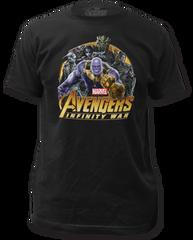 The Avengers Infinity Wars Villains Black Short Sleeve Adult T-shirt