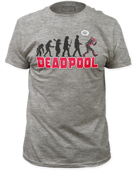 DeadPool Evolution Heather Grey Short Sleeve Adult T-shirt
