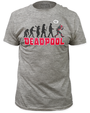 DeadPool Evolution Heather Grey Short Sleeve Adult T-shirt