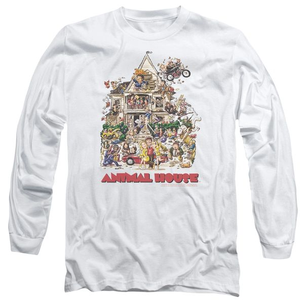 Animal House Poster Art White Long Sleeve Adult T-shirt